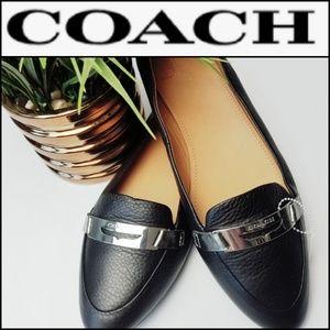 COACH Ruthie Flats w/ Silver Coach Detail!